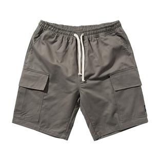 多口袋工装短裤男潮流休闲宽松裤子
