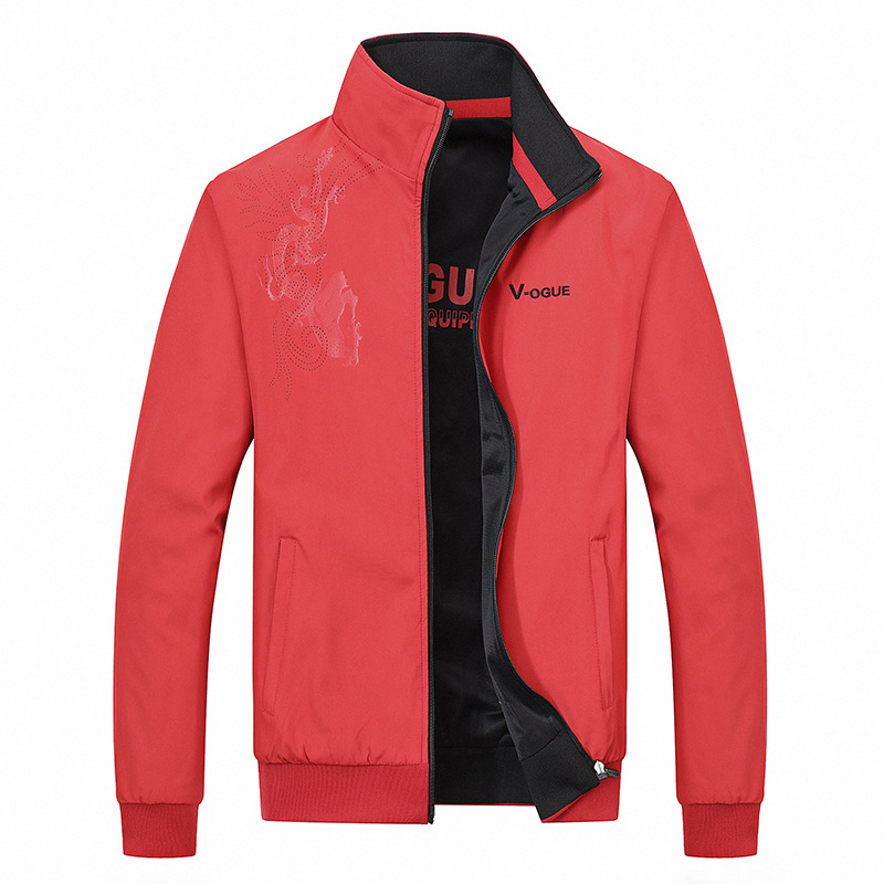 New mens spring and autumn sports leisure coat loose size double-sided jacket youth double-sided thin top