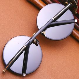 天然水晶眼镜东海石头镜男纯石太阳镜墨镜圆形复古养目镜防辐射纯图片