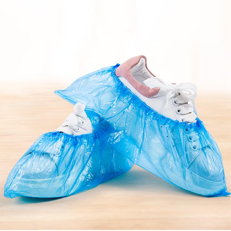 一次性100只装加厚耐磨塑料套鞋套