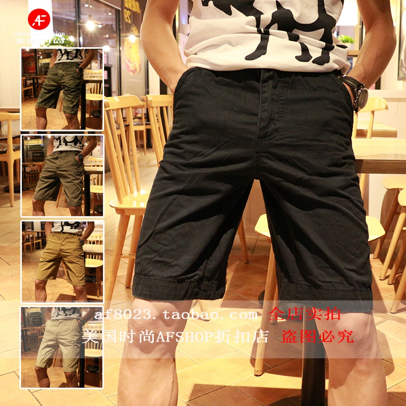 Special price AF mens casual shorts summer new cotton Capris European and American fashion brand simple pants in stock