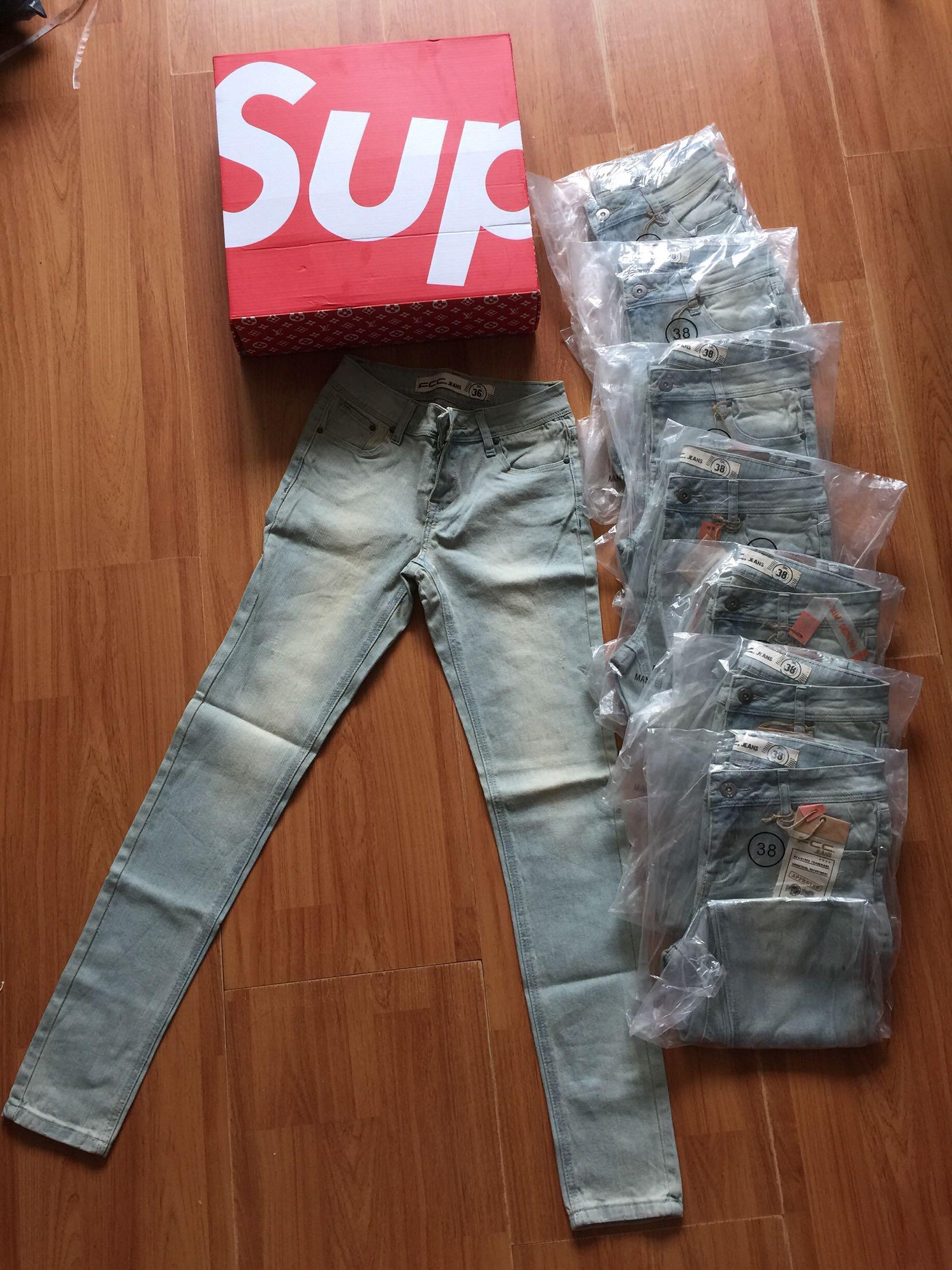 2017秋季新款出口美单小脚牛仔裤中腰显瘦好质量牛货长裤