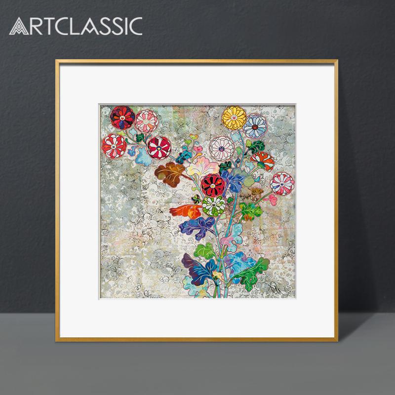 再生之花簽名限量石版畫村上隆版畫TAKASHI日本藝術畫現代裝飾畫
