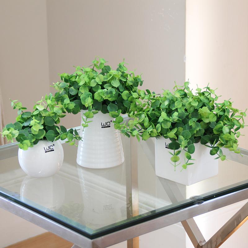wo+仿真花套装假花假草绿叶植物三叶草花艺 家居装饰盆栽盆景