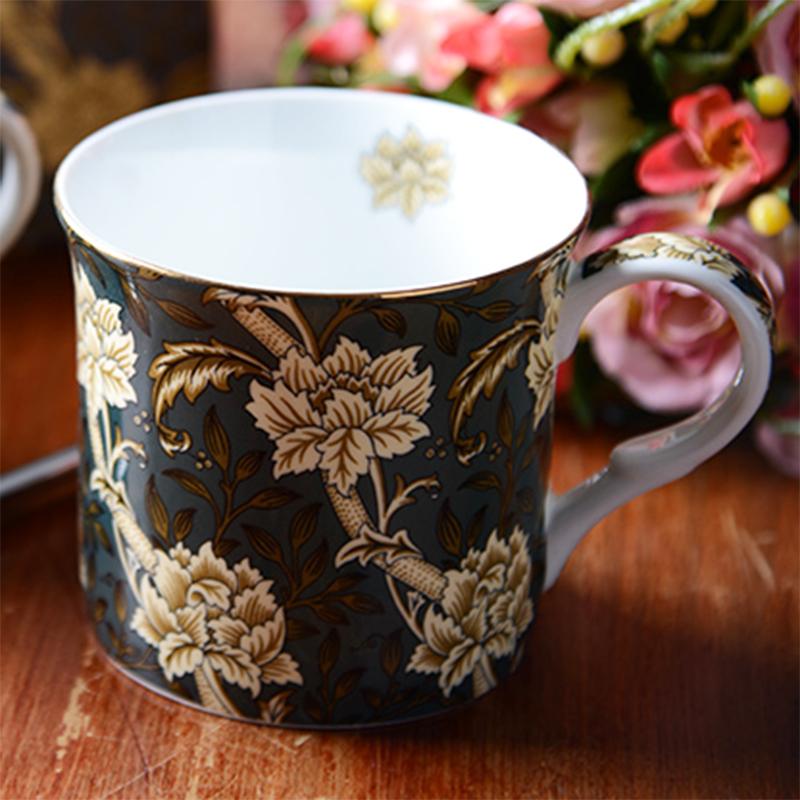 (用24.9元券)妙home欧式骨瓷高档复古茶杯马克杯