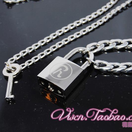 南京锁情侣项链锁头钥匙莲nana钛合金不褪色项链