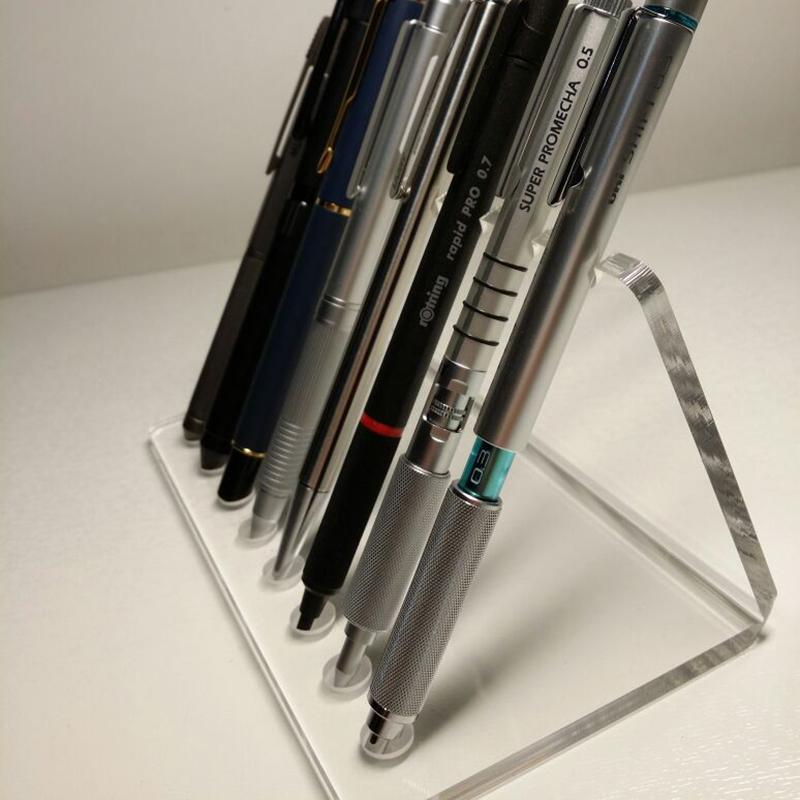 工厂特价亚克力透明笔架钢笔毛笔水彩笔眼线笔化妆笔展示架可定制