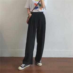加大碼寬鬆闊腿褲女秋裝2020新款適合胖妹妹胯大腿粗顯瘦的休閒褲