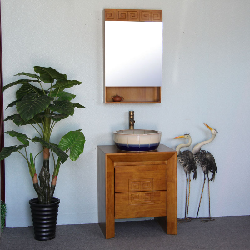 小户型中式古典橡木浴室柜(非品牌)