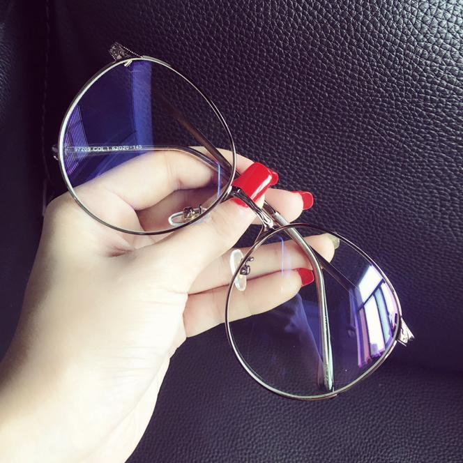 Негабаритный коробка круглый лицо литература и искусство радиационной защиты blu-ray очки женщина корейская волна ретро ясно, зеркало полка близорукость глаз мужчина