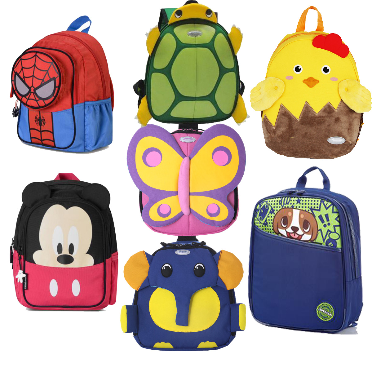Counter authentic new beautiful childrens backpack u22 animal cartoon bear elephant butterfly 23C schoolbag