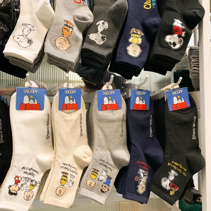 韩国女代购东大门史努比短筒夏女袜限时2件3折