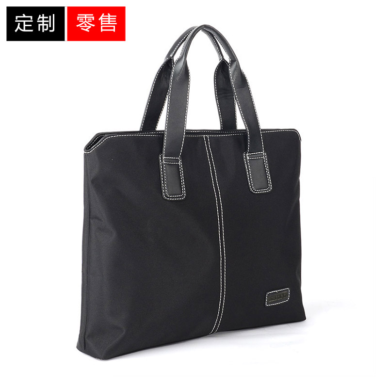 Portable briefcase mens business simple custom canvas mens leisure 2021 new computer conference printing logo