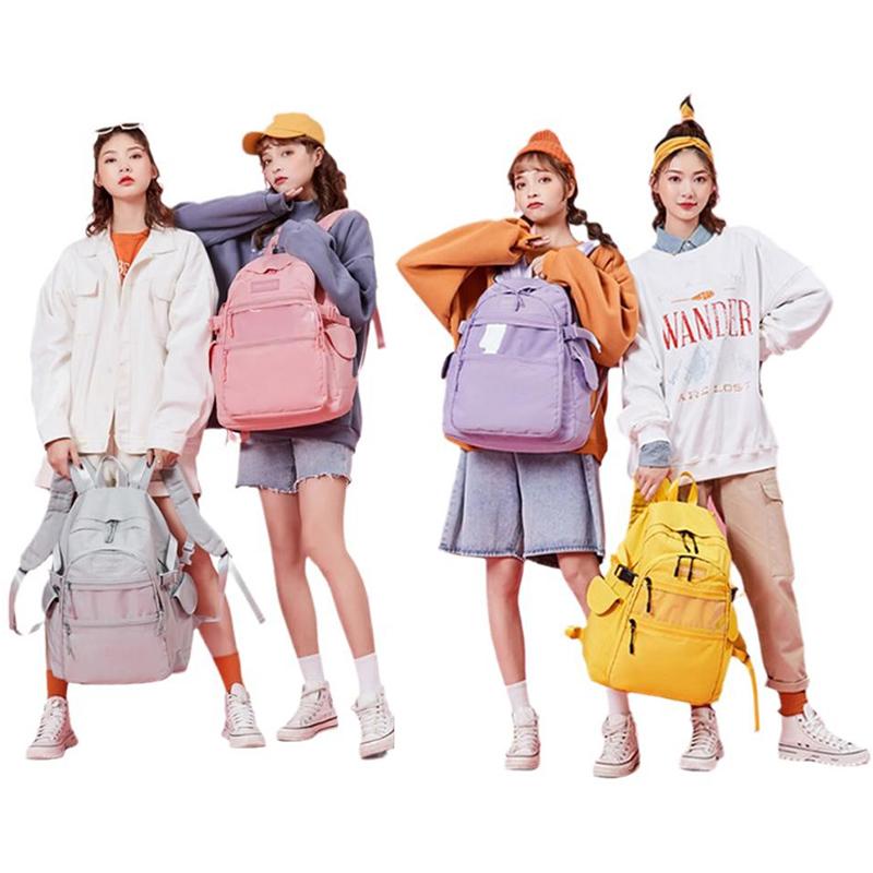 Schoolbag female junior high school student high capacity Harajuku Korean campus simple backpack high school student computer travel bag