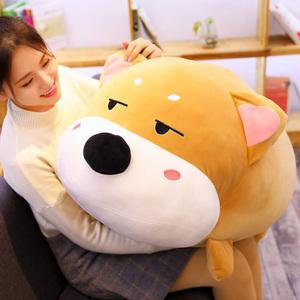 可爱柴犬公仔玩偶毛绒床上抱枕男生款睡觉娃娃趴狗玩具女生日礼物