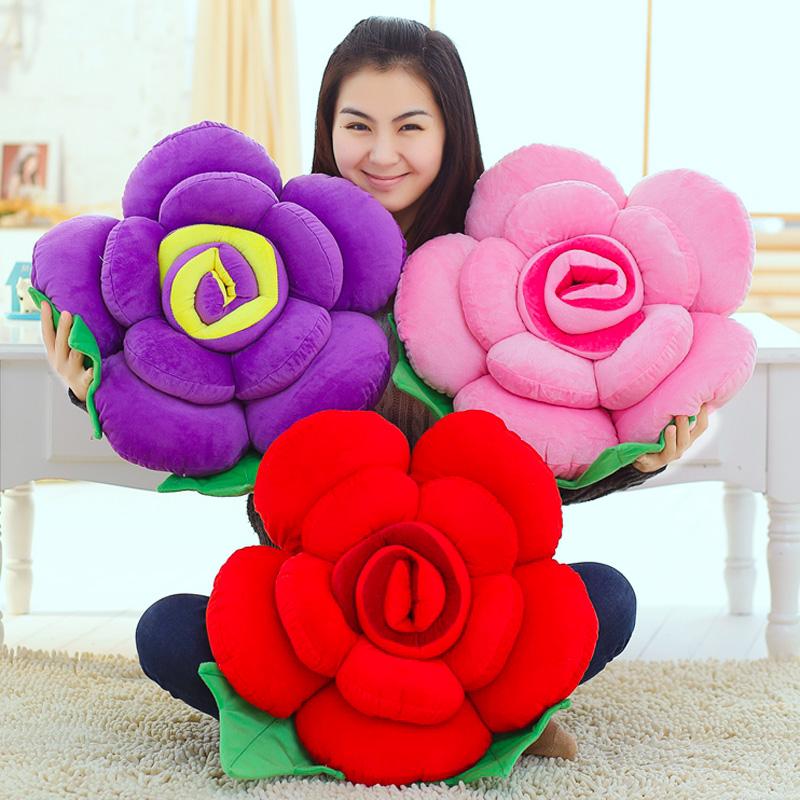 Большой размер мэй цветок розы подушка руководитель может любовь цветы плюш игрушка оптовая торговля ложиться спать подушка диван подушка девочки подарок