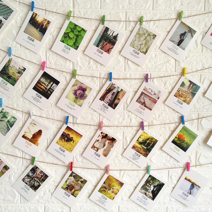 Ретро творческий подвеска декоративный статья пеньковая веревка цвет клип diy литература и искусство фото стена украшения открытка фото стена