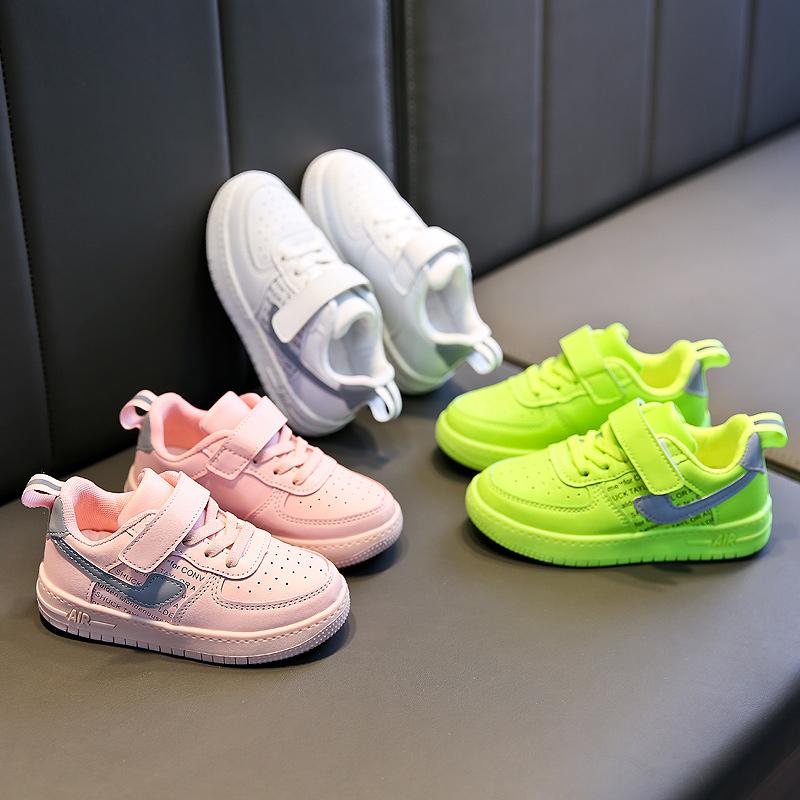 韩版女童板鞋2019新款儿童小白鞋秋季透气男童运动鞋学生休闲鞋潮39.90元包邮
