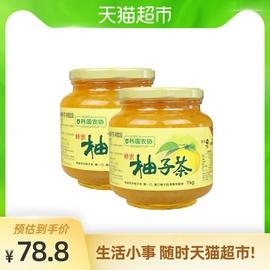 韓國韓式進果味口沖飲韓國農協蜂蜜柚子茶水果茶2kg(1kg*2瓶)圖片