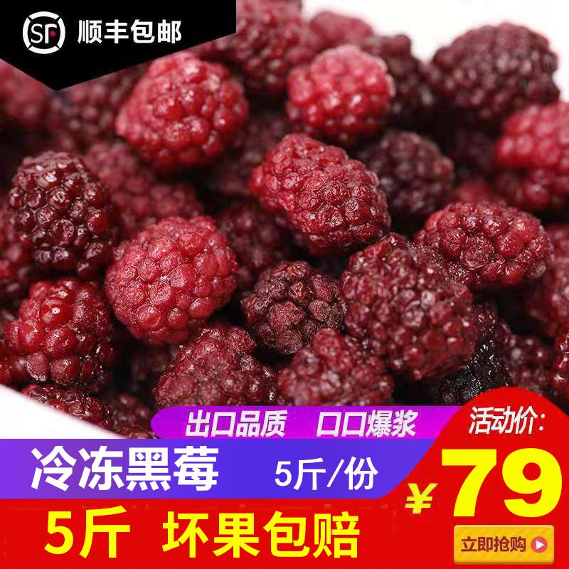 新鲜黑莓树莓速冻黑莓水果覆盆子冷冻黑树莓露莓胜红树莓5斤顺丰