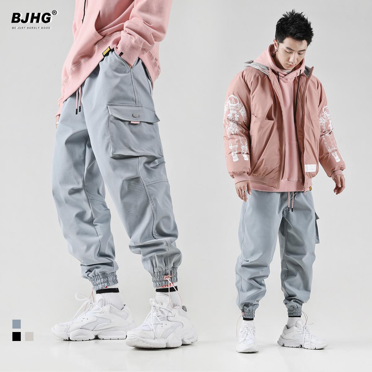 热销510件包邮bjhg不计后果hiphop工装男运动裤