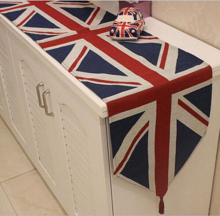英伦风米字旗桌旗欧式电视柜盖布美式乡村鞋柜盖布防尘咖啡馆桌布