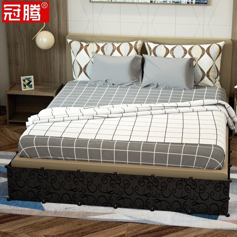 床底挡板防尘卧室房间床下分隔