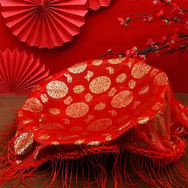 结婚用品大全婚庆用品红纱喜盆纱巾红布新娘盖头蒙盆纱中式婚礼图片