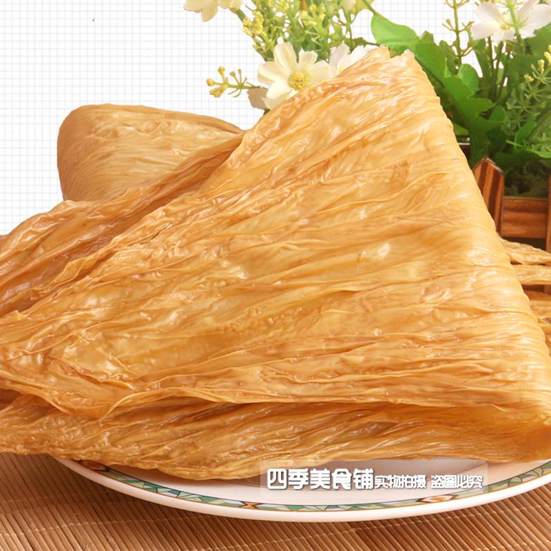 江西赣南特产太阳晒干阳埠腐竹 油豆皮 豆干素肉油豆腐皮一斤包邮
