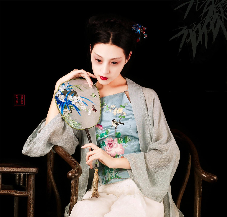 Гибискус открыто шу китайский стиль ретро красивый утонченность копия рука вышивать сексуальный вышивка фартук шу джейн эйр оригинальный дизайн