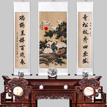 定制禮品書房茶樓裝飾畫鄭板橋竹子字畫竹子掛畫卷軸畫國畫絲綢畫