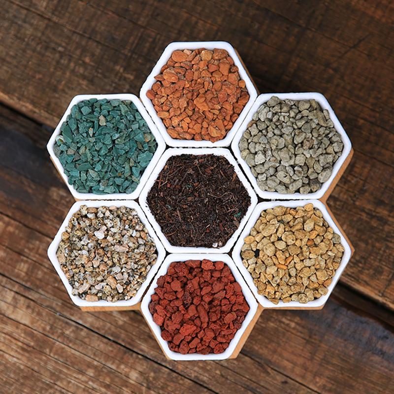 绿野园艺|多肉颗粒土营养土介质铺面石麦饭石赤玉土绿沸石火山石