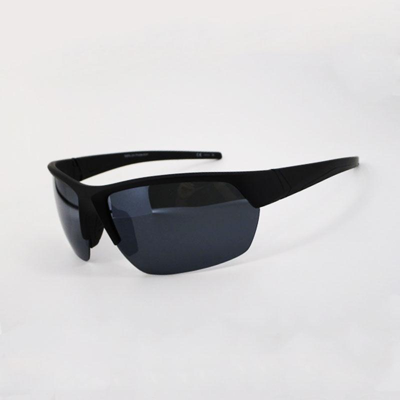 Mens simple half frame sports Polarized Sunglasses thickened fishing riding Sunglasses drivers polarized lenses