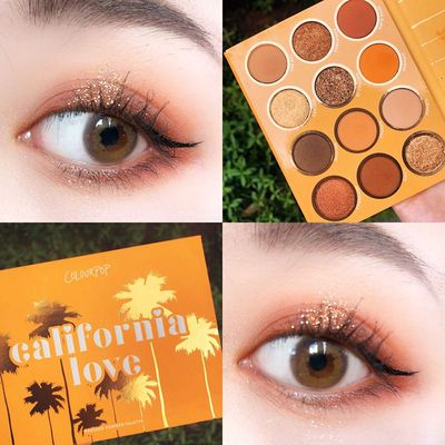 卡拉泡泡colourpop眼影盘california love加州挚爱colorpop蝴蝶盘