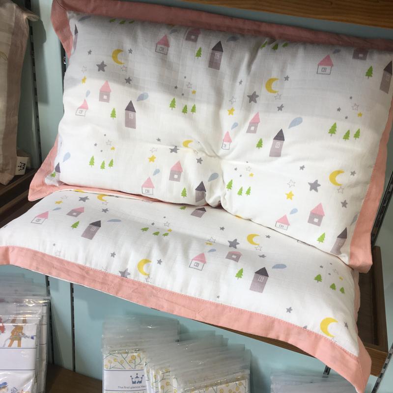 北欧全棉双层纱布婴儿乳胶儿童枕套