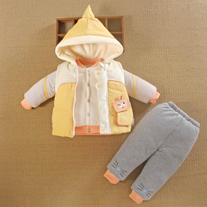 0一1岁半男宝宝棉衣服外套袄棉服