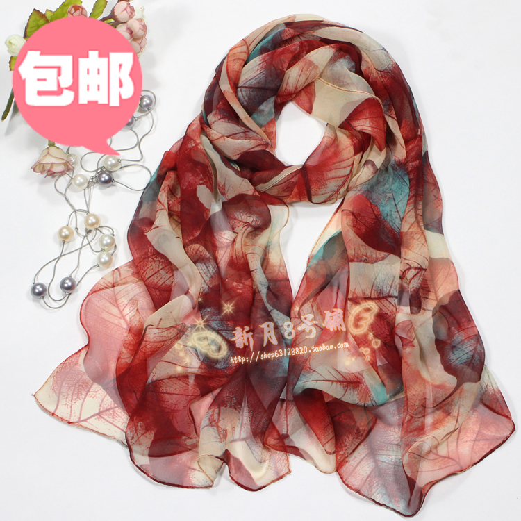 Silk scarf for womens versatile spring and autumn neck protection small scarf autumn style foreign fashion middle aged mother Korean Short decorative scarf