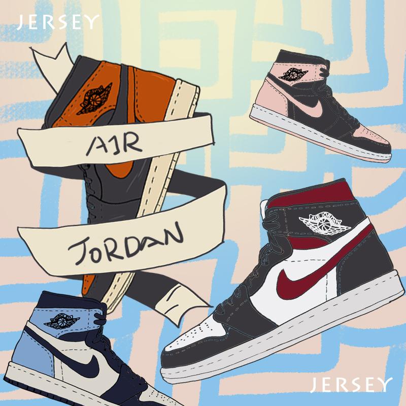 Jordan 1 AJ1 og gs 黑曜石 北卡蓝绿红丝绸黑红灰脚趾猪油兔八哥图片