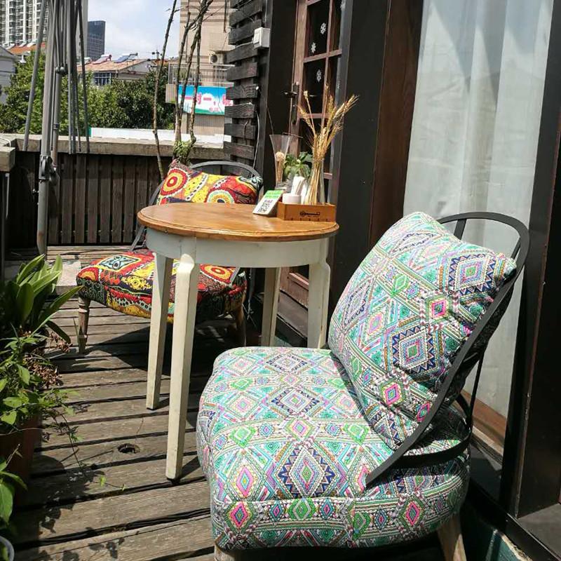 Американский ретро один случайный промышленность ветер кофе зал одежда магазин бар спальня балкон железо небольшой диван стул