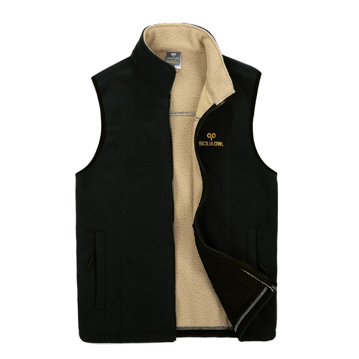 Дефект зазор на открытом воздухе утолщённый мужчина модель шерсть одежда теплый жилет кардиган жилет