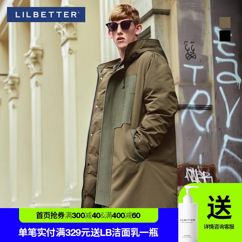 Lilbetter羽绒服男 中长款连帽冬装大衣保暖加厚外套男士羽绒服潮图片
