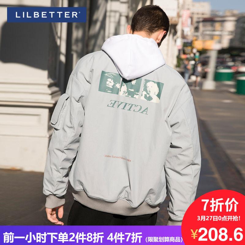 Lilbetter冬季外套男 2019新款保暖棉袄男加厚棉服立领棉衣男装潮