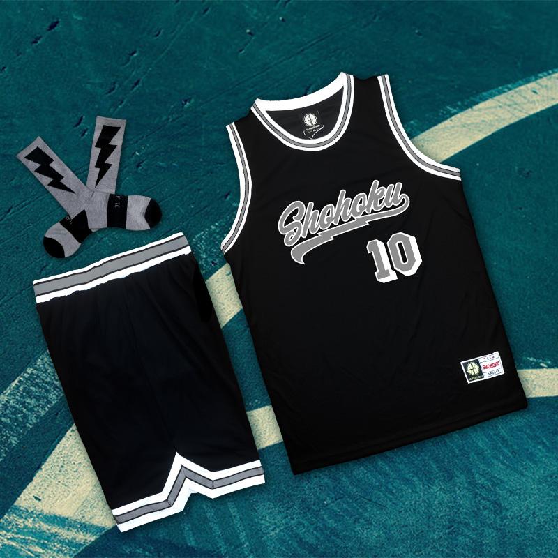 湘北灌篮高手篮球衣训练队服男女diy樱木花道篮球服套装定制订做
