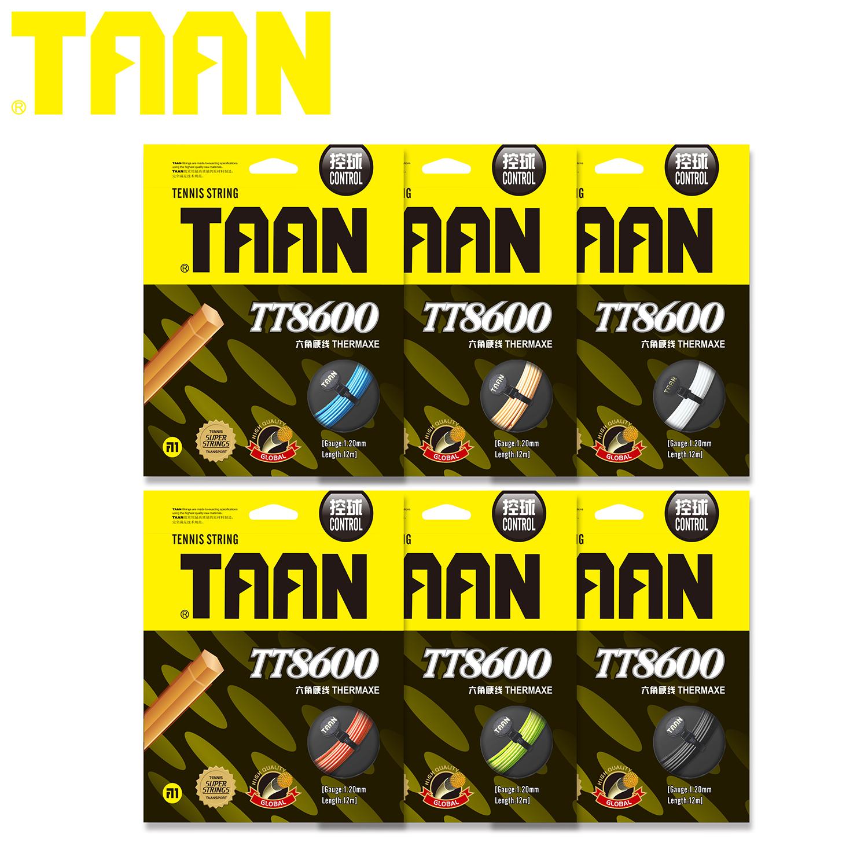 Тайский дорогой Taan TT8600 шестиугольник жесткий линия полиэстер теннис линия 6 полноцветная 3 корень 50 юаней