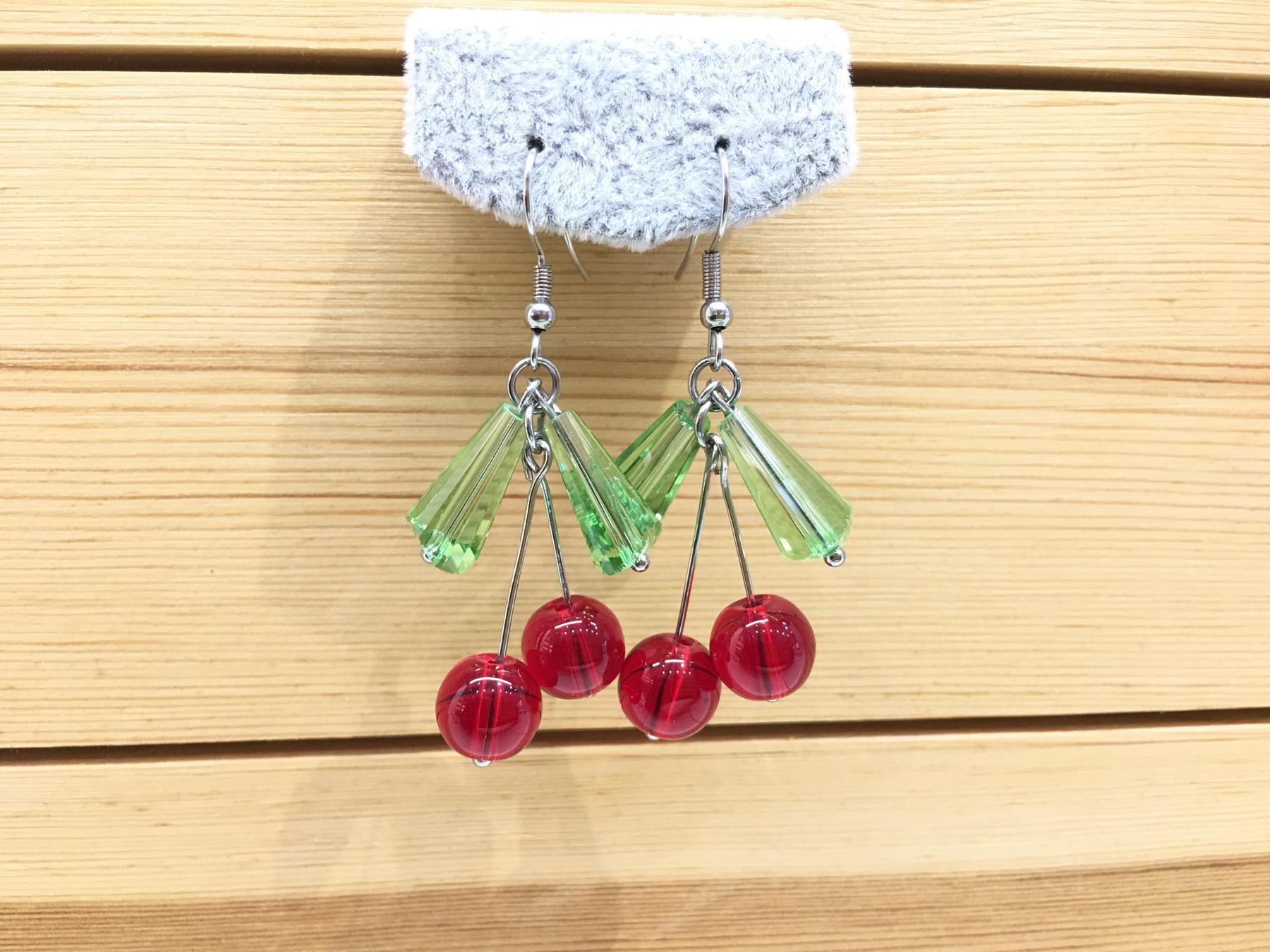 Alasu Earrings small cherry sweet joy small fresh style earrings beautiful lovely