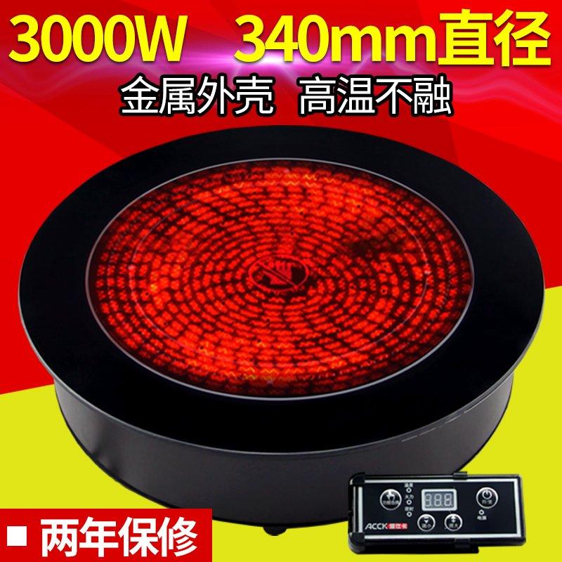 3000W большой мощности бизнес электричество керамика печь встроенный рабочий стол свет волна электромагнитная печь не выбирают горшок отели рис магазин использование