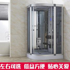 整体淋浴房洗澡间蒸汽房沐浴房一体式卫生间隔断钢化玻璃房简易房图片