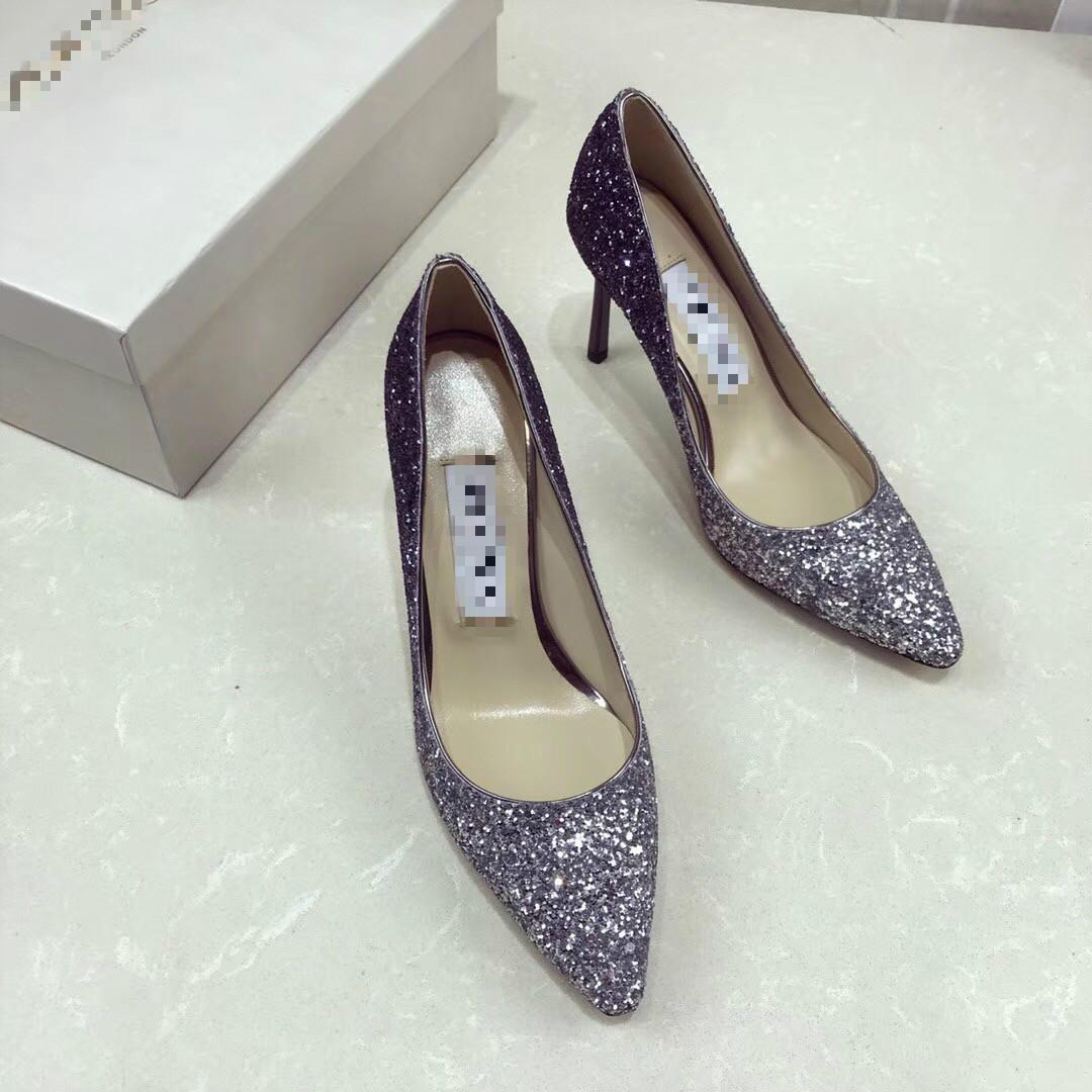 女鞋 女式时尚单鞋闪闪亮高跟鞋 欧洲站高端定制