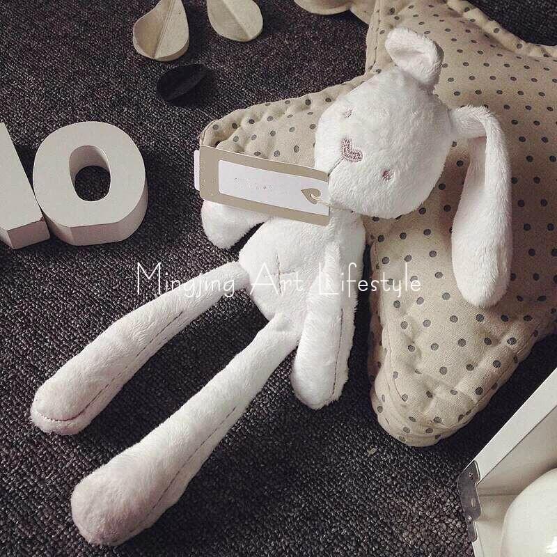 【1件包邮】ins小萌兔贵族兔宝宝玩偶毛绒安抚兔公仔陪睡礼物出口