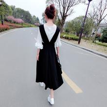 Весна новый сезон корейский платье женщины длина A слово юбка V длинная шея юбка талия студент ремень юбка юбка